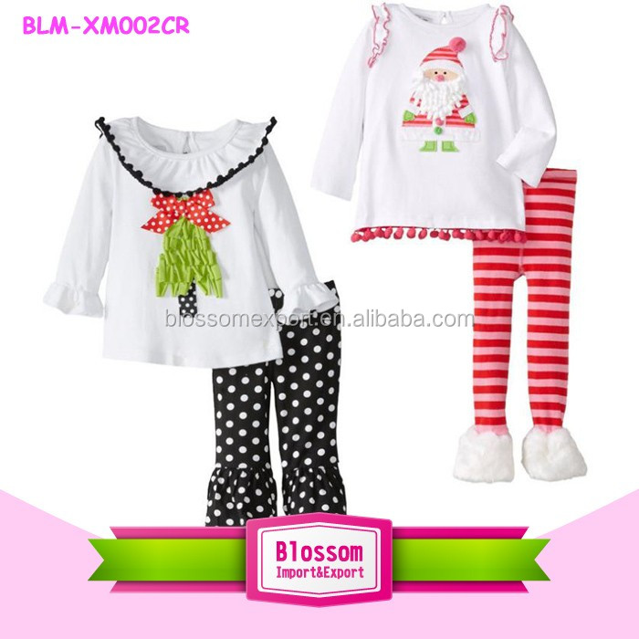 Wholesale Christmas Red Green Stripe Pajamas Set Halloween Children Cotton Pajamas