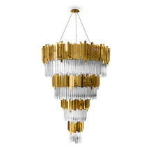 JANSOUL hight ceiling smartness large luxury ring-type contemporary crystal chandelier hotel lighting