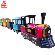 Outdoor kids backyard electric trackless train for sale