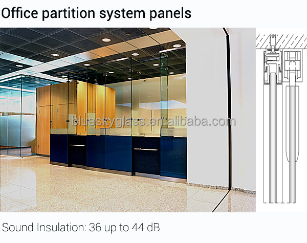 8mm 10mm 12mm toughened glass for office partion wall