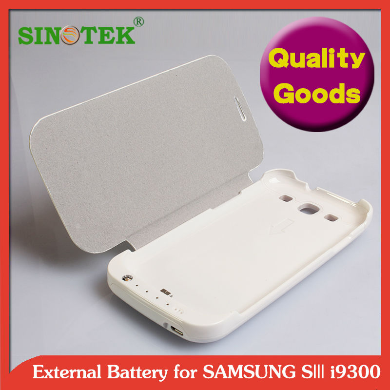 SINOTEK 2200mah battery case for samsung galaxy s3 more leather