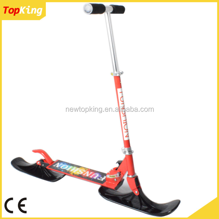 Kid snow scooter/snow scooter skis/snow sled Approved by CE EN71