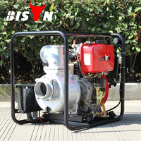 BISON(CHINA) Factory Price BSD40 Portable 10hp Irrigation Agricultural Air-cooled 4 Inch Diesel Water Pump For Sale