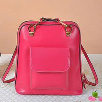 GL434 fashion real leather backpack bags for high school girls