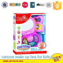 Hot sale plastic cartoon pretend make up box toy with light & music for kids,cartoon baby play toy