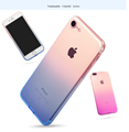 DFIFAN gradually changing color mobile phone case for iphone 8 plus High quality Soft TPU colorfu mobile back cover for iphone 8