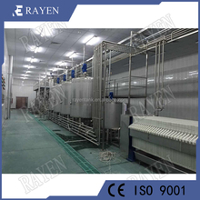 Stainless steel beverage production fresh milk processing machinery