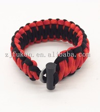 2017 survival emergency handmade paracord bracelet fire starter knife paracord bracelet