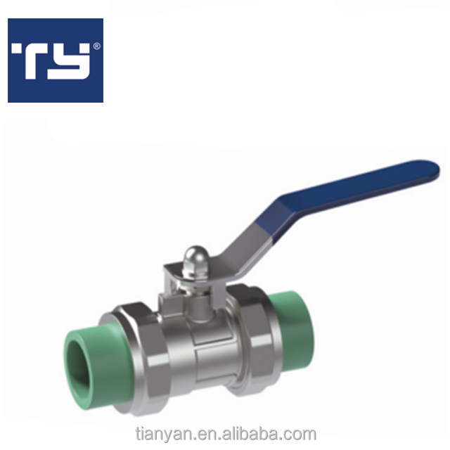 TY High quality water supply Cheap Full Size factory price list discount PPR BALL VALVE dn20