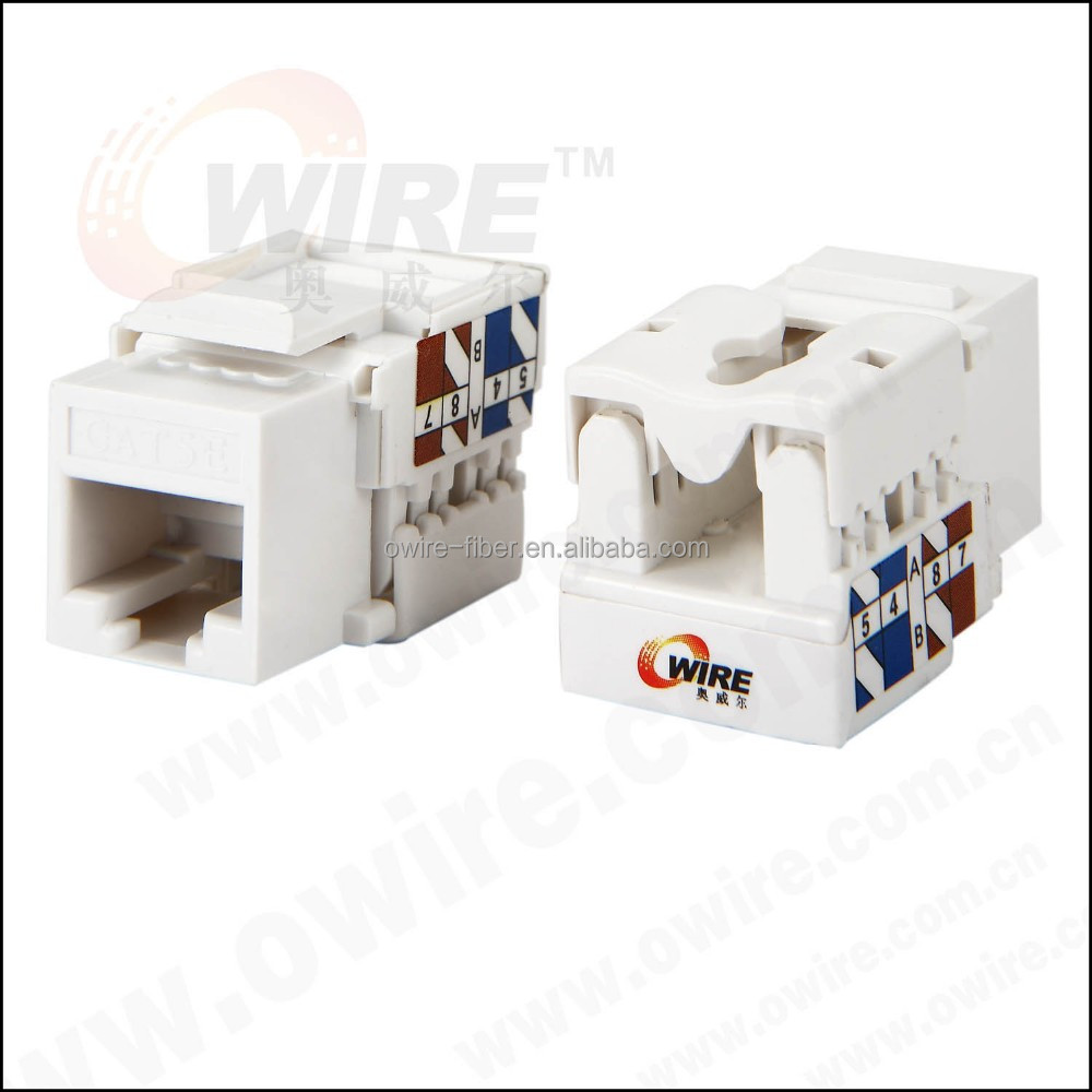 Network Solution RJ45 8P8C UTP 90 Degree Cat 5e Keystone Jack
