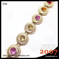 Wholesale Multicolor Crystal Applique Rhinestone Chain