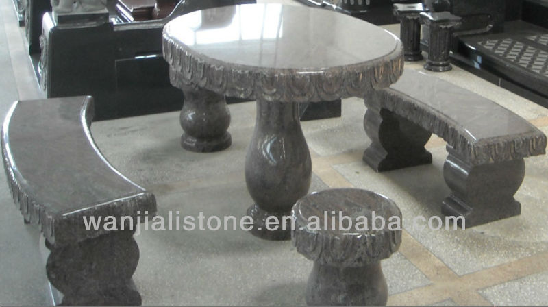 Granite Stone Table and Benches