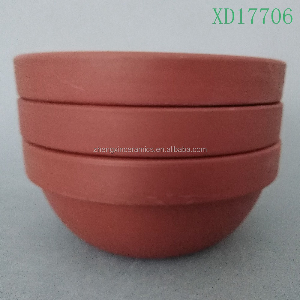 2 sizes special cheap ceramic Terrocotta ice bowl