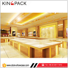 KINGPACK stainless steel with tempered glass jewelry cabinet supplies
