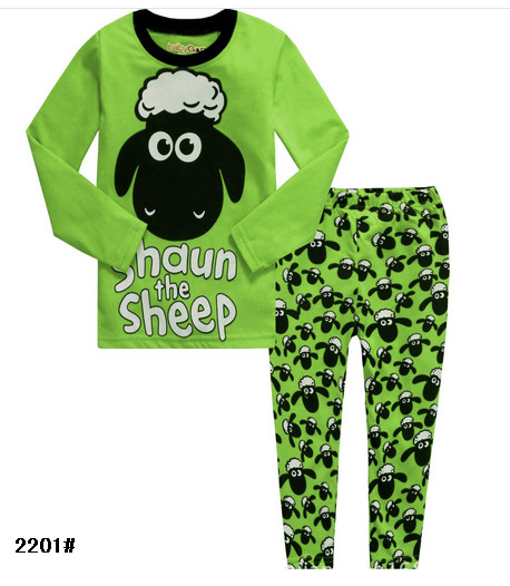 Sheep Printing Children Toddler Boys Pajamas Clothes Sets Our Company Want Distributors