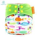 Happy Flute all in two diaper bamboo charcoal aio diaper washable diaper babies