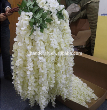pink, white wisteria,artificial flowers for wedding decorations artificial wisteria