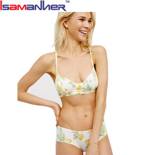 Lady printing sexy bikini stylish hot fancy bra and panty set