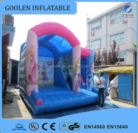 inflatable jumping combo with slide/ inflatable castle bouncer