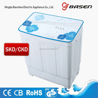 Solar mini DC 12V Glass cover baby clothes washing machine with CE,CB