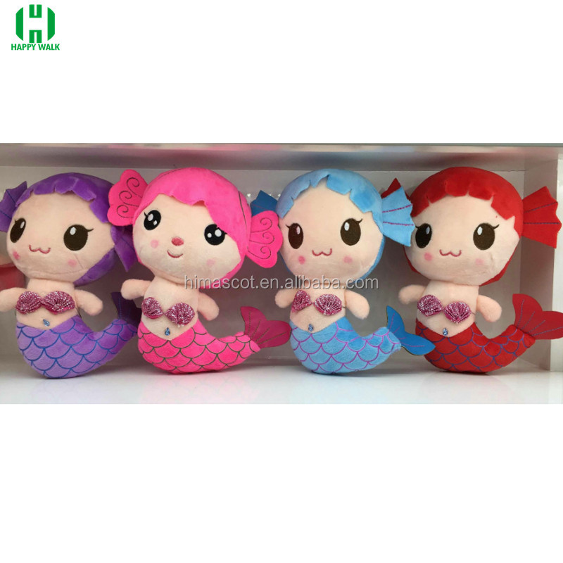 HI EN71 High quality cartoon character plush mermaid toy, mermaid doll for sale