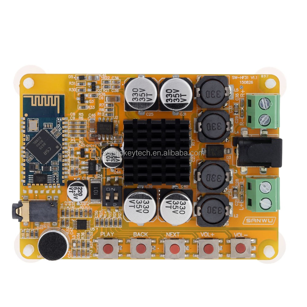 TDA7492 Wireless Bluetooth 4.0 2*50W 2-channel Digital class d power amplifier module
