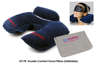 Double Comfort Travel Pillow Inflatable