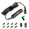 65W-90W Universal Laptop Car Charger 90W slim DC Power Adapter