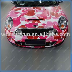 high quality air channel wrapping the car Body painting sticker vinyl fiber