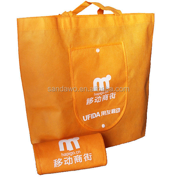 Colorful Recycled foldable shopping bag