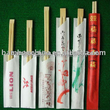 Disposable bamboo chopsticks with knots