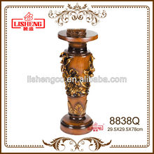 ornaments floor display stand resin decorative house column pillar 8838Q