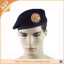 Army soldiers in cold cool winter military beret