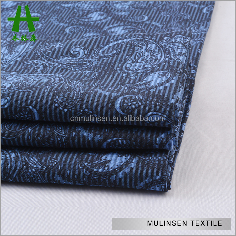Mulinsen Textile High Quality Woven 32s Combed Sateen Stretch Cotton Paisley Print Fabric For Leggings