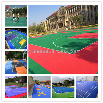 good water drainage soccer court outdoor plastic flooring