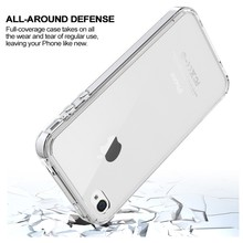 Simple New Design Clear TPU+Acrylic Mobile Phone Case For iPhone 4s PC Cases