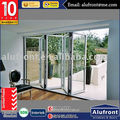 JN60 Series Aluminum Bi-folding Door with accordion fly screen
