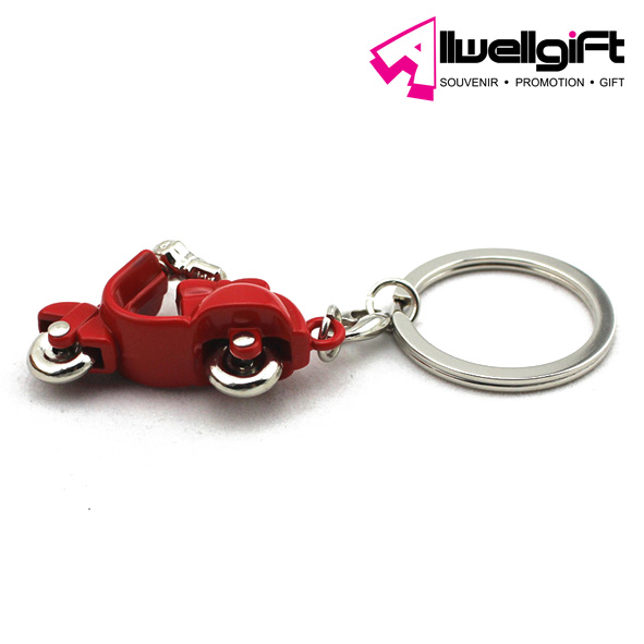 2013 high quality motor shape custom made keychain for wedding gift