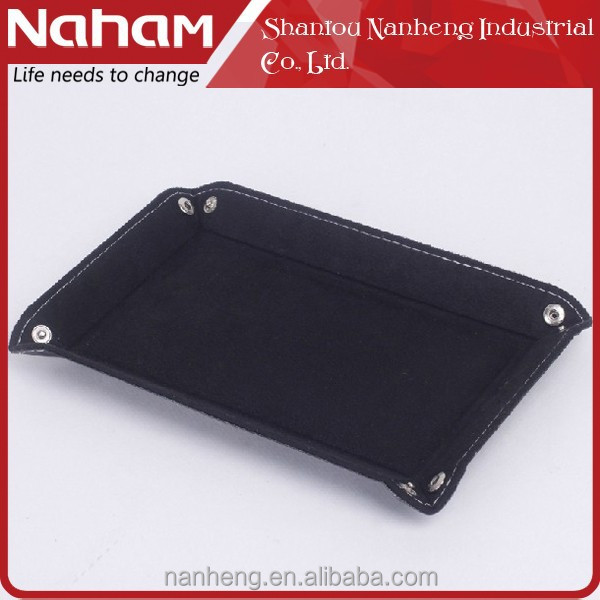 NAHAM folding faux leather storage office desk tray