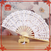 Wedding gift lace hand fans for wedding white GYS120-1