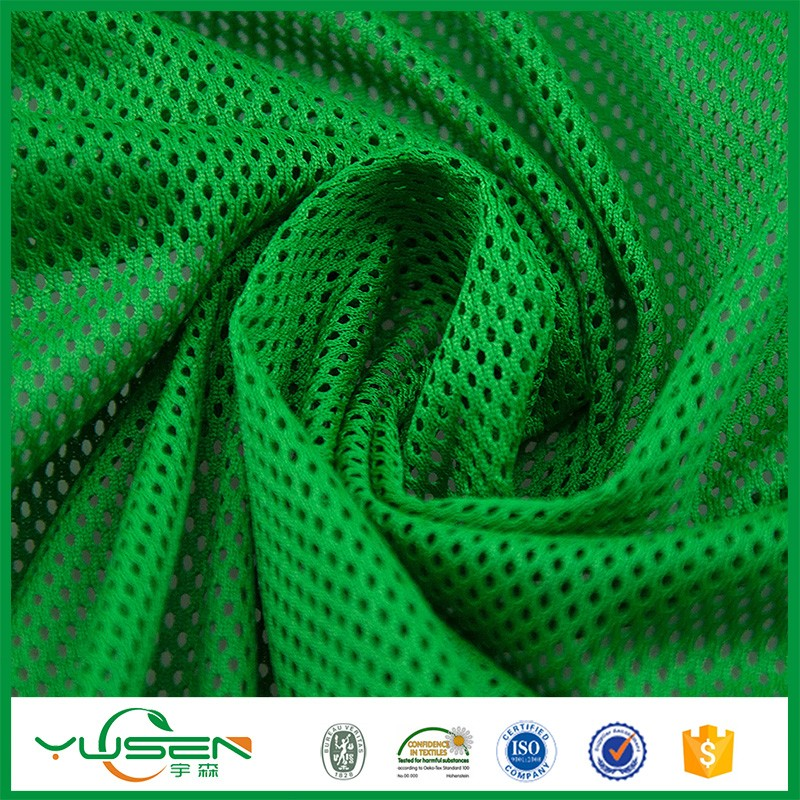 Dry Fit Sports Athletic Mesh Fabric made of 100% polyester
