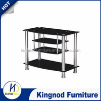 hot sale Modern simple design 4 layers tempered glass plasma stand/tv table/tv cabinet