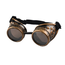 Welding Cyber Punk Vintage Sunglasses Plastic Adult Cosplay Eyewear Retro Gothic Steampunk Goggles