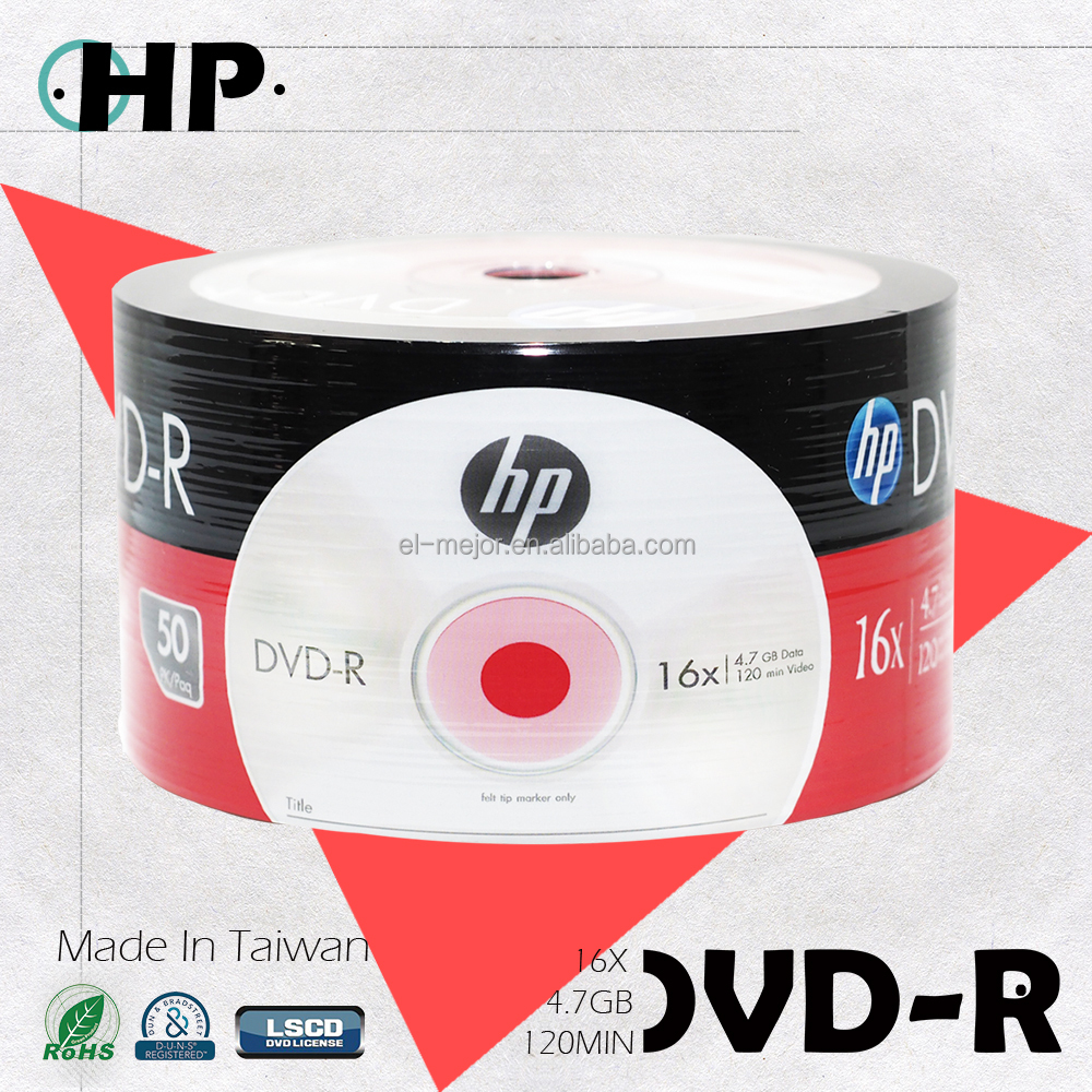 Blank Media for H P Quality A+ 100% Raw Material Fill Capacity DVD-R