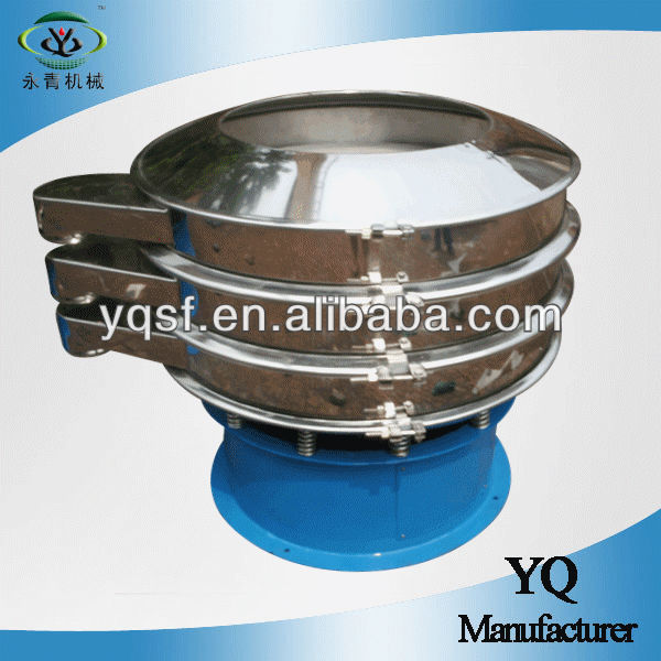 YongQing vibraing motor drive fine powder vibrating screen separator with stainless steel and astm standard mesh