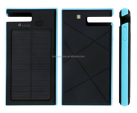 New design CE,FCC,ROHS waterproof high capacity solar power bank with holder 12000Mah