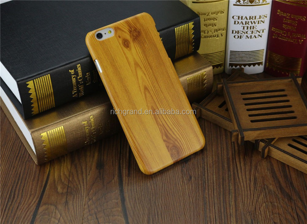 New retro wood style wooden bamboo hard mobile phone back case cover for iphone 6 6plus