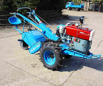 Diesel walking tractor with sit type farming tractor