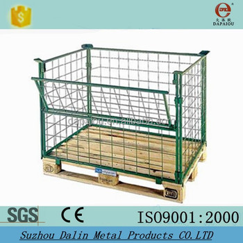 Foldable Metal Wire Pallet Cage