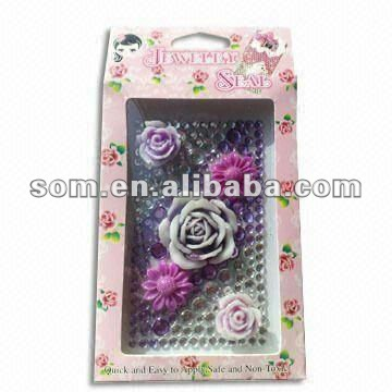 Non-toxic Glue Crystal 3ds skin sticker